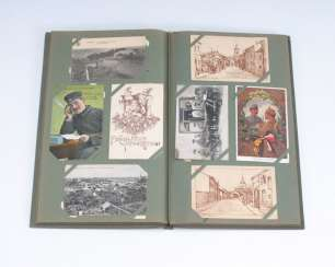 Post card album of approximately 200 cards, I.