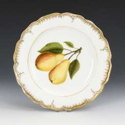 Plate with fruit painting