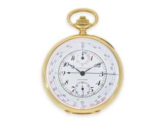 Pocket watch: rare, very high-quality Longines Chronograph