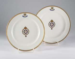 The dining plate of S. M. Yacht