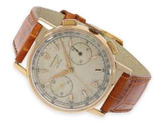 Watch: wanted large vintage Chronograph in rose gold, the Longines 30CH, CA. 1966