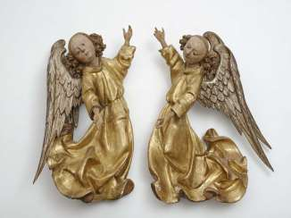 Landshut, Germany, about 1490 . A COUPLE OF ANGELS