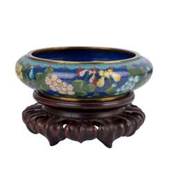 Cloisonné Bowl. CHINA, 1. Half of the 20. Century.