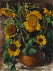 BARTHEL GILLES 1891 Rendsburg - 1977 Wees. STILL LIFE WITH SUNFLOWERS
