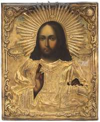 Christ Pantocrator with gilded Silberoklad