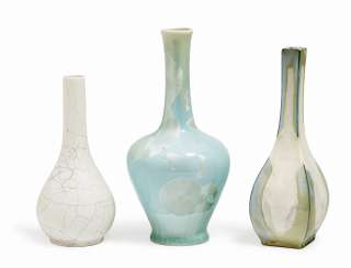 TWO VASES AND A BOTTLE Nymphenburg, around 1900 or 1936