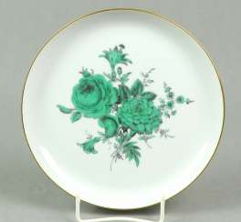 Meissen Wall Plate *Green Flower*