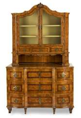 Fine Rococo Display Cabinet Top Chest Of Drawers