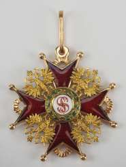 Russia : Imperial and Royal order of Saint Stanislaus, 2. Model, 2. Type (approx. 1841-1917), 3. Class.