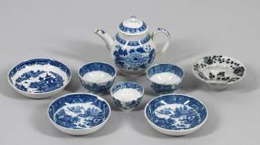 Eight Blue-And-White Miniature Vessels