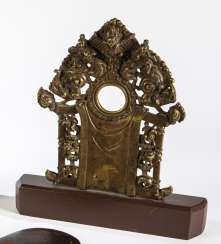 Miniature throne back wall