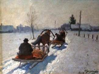 "The Painting ""Winter. Night is falling"". Egorov A. A. the Beginning of XX century.."