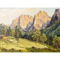 "PAINTER OF THE 20th CENTURY ""Spring in the Wilder Kaiser"""