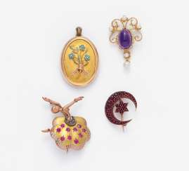 Group Of Four Brooches