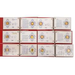 Outstanding, older BW Bank gold coins collection in 6 volumes,