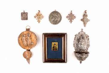 COLLECTION OF EIGHT RELIGIOUS OBJECTS