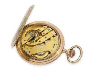 Pocket watch: red-gold art Nouveau splendour savonnette with a housing of the finest quality, Swiss CA. 1900