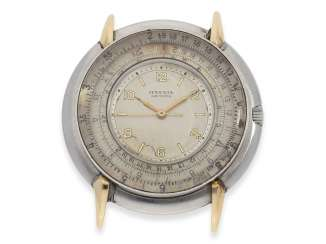 Watch: rarity, extremely rare vintage men's watch with slide rule function