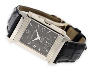 Watch: rare and high-quality Jaeger Le Coultre men's watch in 18K white gold Reverso