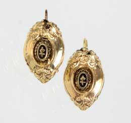 gold Biedermeier earrings