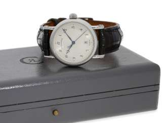 Watch: elegant automatic watch in stainless steel, Chronoswiss