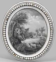 Image plate with shepherd scene