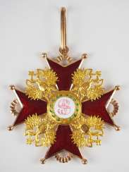 Russlan diameter: Imperial and Royal order of Saint Stanislaus, 2. Model, 2. Type (approx. 1841-1917), 1. Class Gem.