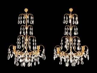 PAIR OF SCONCES IN THE LOUIS XVI STYLE