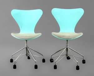 Pair Of Swivel Chairs By Arne Jacobsen