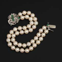 2-row cultured pearl bracelet with Smara