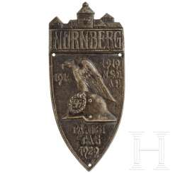 "Large badge ""Nuremberg Nazi Party Rally 1929"""