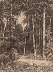 IVAN IVANOWITSCH SHISHKIN 1832 Yelabuga - 1898 St. Petersburg Birch Forest Etching on paper. Visible dimensions 23 cm x 17 cm. Mounted in a mat