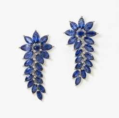 Cocktail stud earrings with sapphires Germany