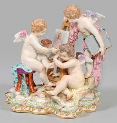Allegory of painting. Meissen. 2. Half of the 19th century. Century.