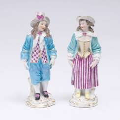 Pair of figures 'comedian and comedian'
