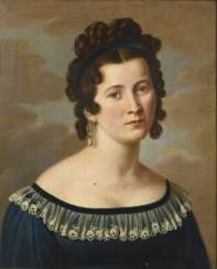 Portrait painter 1st half of the 19th century: Portrait of a woman