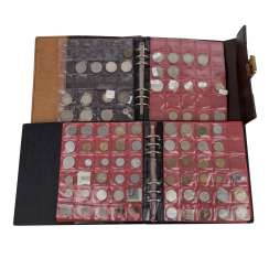 2 albums of coins and medals, with SILVER -