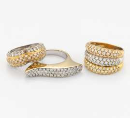 Group Of Three Diamond Rings