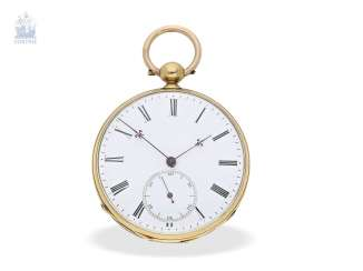 Pocket watch: early, high fine Lepine with chronometer escapement, Switzerland, around 1850