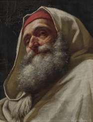 Unknown 19th century, bearded man in white cloak
