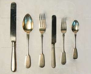 A set of Cutlery for three persons