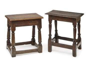 Two Centre Tables, England, 17. A century later