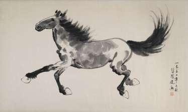 Im Stil von Xu Beihong: Galoppierendes Pferd