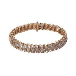Bracelet set with diamonds, together approx. 3 ct,