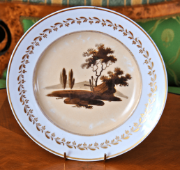 Plate of porcelain.private plant A. Popov,