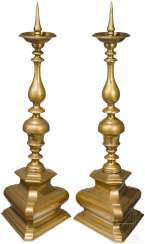 A Pair of large, Baroque mandrel chandelier, Nuremberg, around 1680