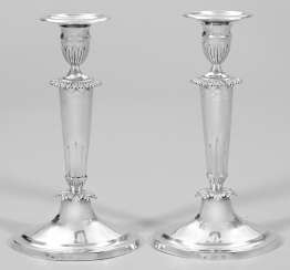 Pair of rare Biedermeier candelabra
