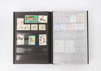 Asia, small Stockbook, with stamps of China,