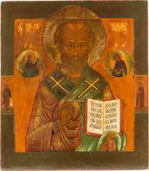 LARGE-FORMAT ICON WITH ST. NICHOLAS OF MYRA