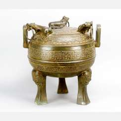 Large Chinese ceremonial or incense pot
